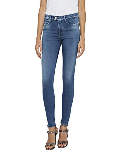 T06 Jeans Replay Donna Blu 000 Eu 9 medium Skinny Wa641 47c Blue 24 TxTwrtIHq