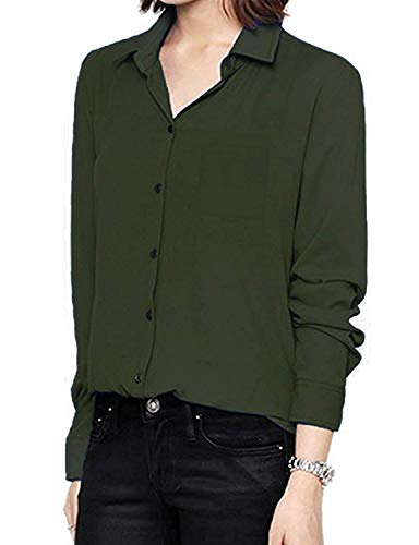 Bavero Business Puro Tempo Breasted Donna Bluse Single Camicie Classiche Blusa Chiffon Ufficio Libero Camicetta Camicie Moda Colore Donne Eleganti Manica Lunga Sciolto Gr Shirts atPqqSz