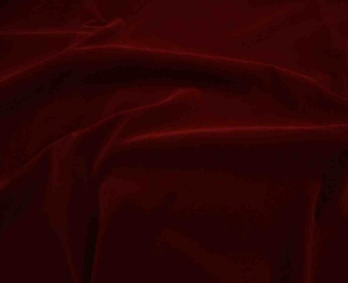 "Red Nylon Plush Velvet Poker Table Upholstery Fabric Per Yard 60"" Wide"