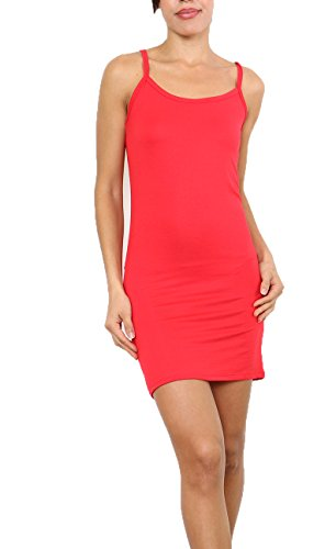 Fond de Robe  Bretelle,Top Long,Bretelle Rouge