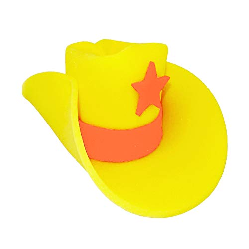 Novelty Giant Foam Cowboy Hat Yellow]()