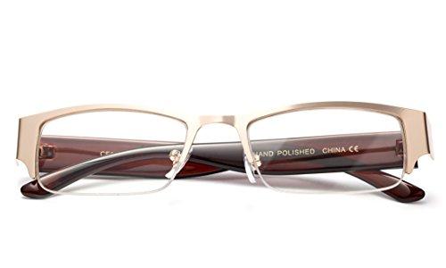 9e44382ded Newbee Fashion- Premium Quality Half Frame Prescription Glasses Rx  Prescription Ready Replacement Frames