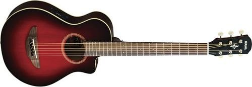 Yamaha APXT2 3/4-Size Acoustic-Electric Guitar with Gig Bag, Dark Red Burst (Electric Guitar Acoustic)