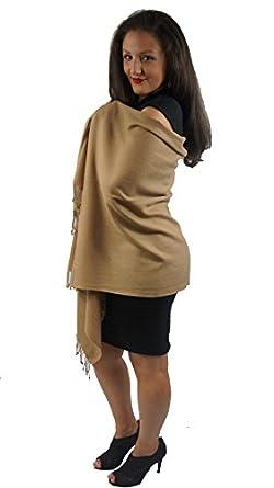Cashmere Pashmina Group: Pashmina Scarf/Shawl (3-Ply Tawny Camel