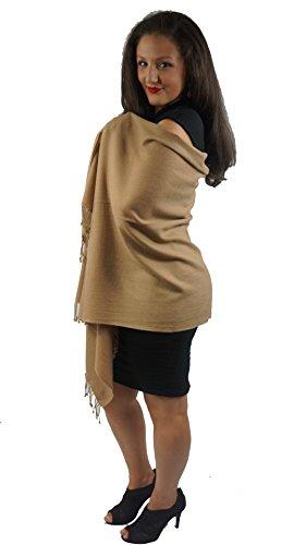 Cashmere Pashmina Group: Pashmina Scarf/Shawl (3-Ply Tawny Camel Regular -