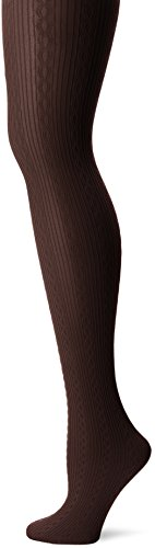 - HUE Women's Cable Knit Tights with Control Top, Espresso, Small/Medium