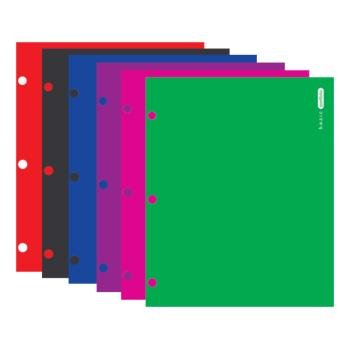 Bazic Assorted Bright Glossy 2 Pockets Portfolios 48 pcs sku# 311395MA by Bazic