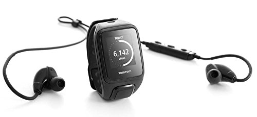TomTom Spark Music + Headphones, GPS Fitness Watch + 3GB Music Storage + Bluetooth Headphones (Small, Black) TomTom