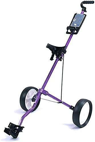 HAO KEAI Golf Cart Golf Push Cart 2 Wheel Push Pull Golf Cart 360 Rotating Front Wheel,Two Step Open/Close,Folding Lightweight Golf Cart,Collapsible Cart with Walking Push Cart Roller