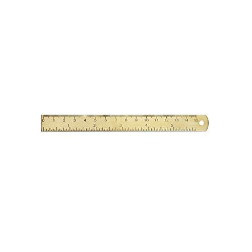 (Brass Ruler Degree Standard Protractor Ruler Math Geometry Ruler Stationery)