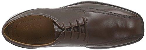 Manz Roma - zapatos con cordones de cuero hombre marrón - Braun (T.d.moro 187)