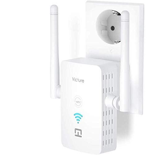 Victure Repetidor WiFi Amplificador WiFi Extensor 2 4 GHz 300Mbps con Puerto Ethernet e Interfaz de Alimentación Repetidor Inalámbrico con Botón WPS Fácil de configurar