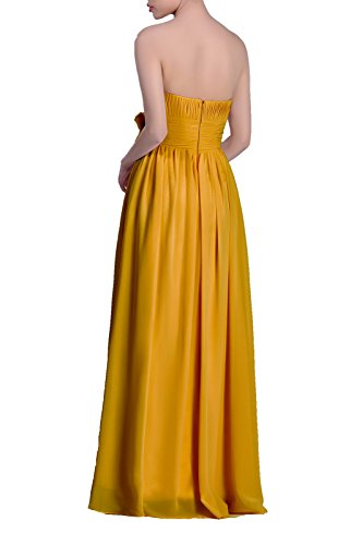 Strapless Dress Sunbeam Line A Long Chiffon Adorona Women's wAxHpRR