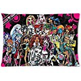 Custom High Monster (Monster High Custom Zippered Pillow Cases Soft And Confortable 20x30 (Twin)