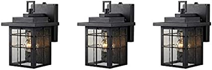 5 Black Finish One Light Hardware House 21-2359 Square Lantern w//Photo Cell
