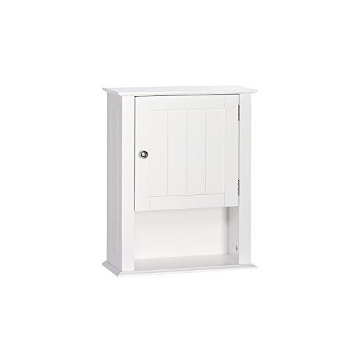 RiverRidge Ashland Collection - Single Door Wall Cabinet - White