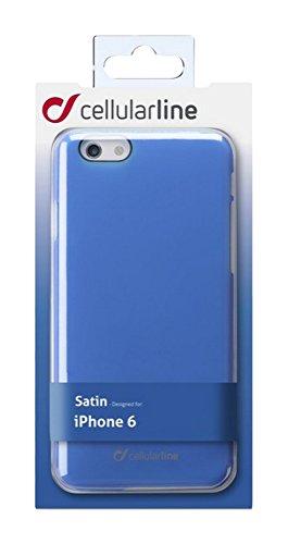 Cellular Line csatini ph647b Rigid Satin Étui pour Apple iPhone 6/6S (11,9cm (4,7)) Bleu