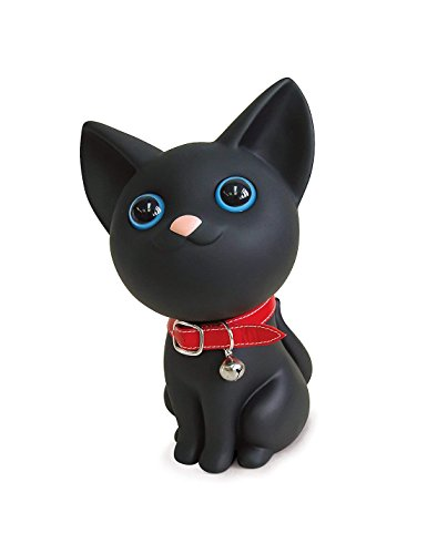 Cute Cat Piggy Bank, Black Cat Bank Toy Coin Bank Decorative Saving Bank Money Bank Adorable Cat Figurine for Boy Girl Baby Kid Child Adult Cat Lover by DomeStar