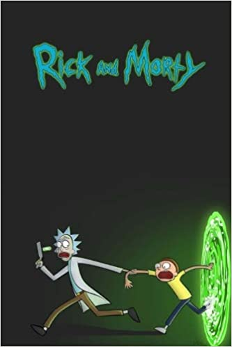 rick and morty movie notebook perfect birthday gift for boyfriend funny christmas present for man daily journal 100 lined pages 6x9 movienotebooks