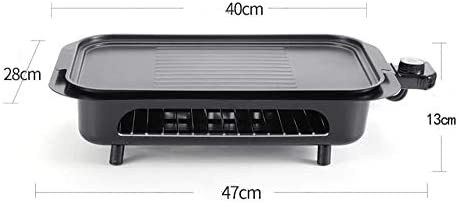 LEILEI Grill de Table de Barbecue en Acier Portable électrique santé avec contrôle de température réglable,sans fumée,pour Barbecue intérieur,Jardin,Camping,2000 W