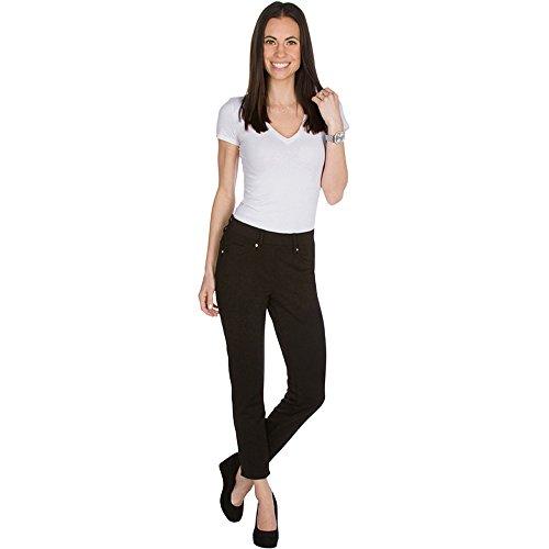Womens Jeggings basic five pocket denim look twill pant leggings by vault sportswear (extra large, black)
