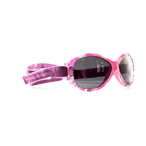 (Kidz Banz Retro Banz Oval Kidz Sunglasses, Pink Diva Camo 2-5 Years)