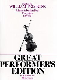 Primrose Viola (G. Schirmer Five Suites for Viola Great Performers Edition By Bach)