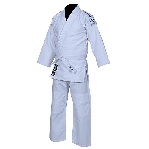 Twister Judo Uniforms M/O Grain Cloth 450GRM, Shoulder Strap, Same Color Thread (White, 0000)