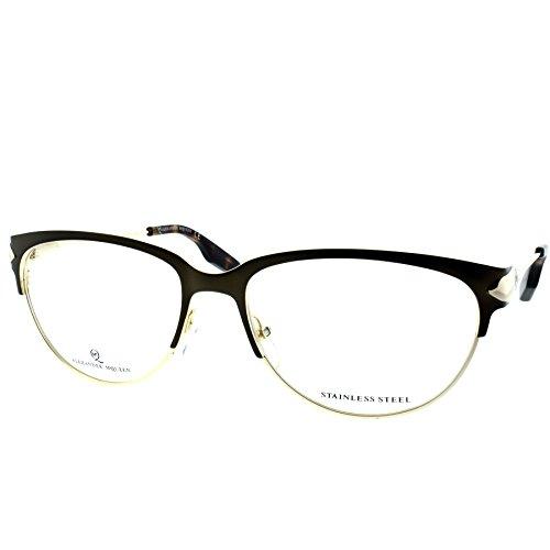 Alexander McQueen MCQ 0015 3QZ Matte Bronze Gold Cat Eye - Eyeglasses Alexander Mcqueen