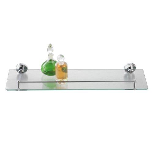 Axentia Wandablage aus Glas mit verchromter Fassung. Maße des Badregals ca. 50 x 14 x 0,5 cm. Ideales Accessoire in jedem Raum. Ob Küche, Bad, Wohnzimmer, Kinderzimmer oder Büro - Dieses Regal ist immer ein Hingucker