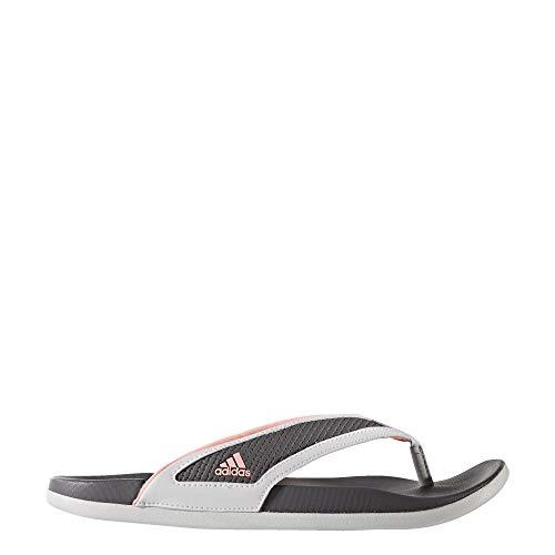 adidas Adilette Comfort Slides Women's, White, Size 8