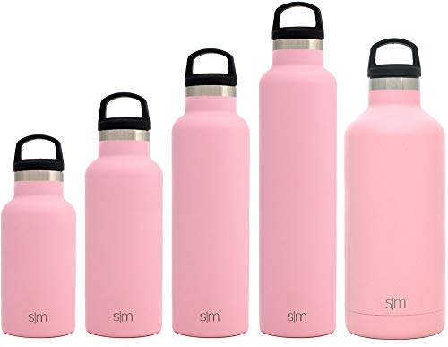 Simple Modern 32oz Ascent Water Bottle - Stainless Steel Hydro Swell Flask w/Handle Lid - Metal Double Wall Vacuum Insulated Pink Reusable Tumbler Aluminum 1 Liter Cold Leak Proof - Blush -  ASC-32-BR