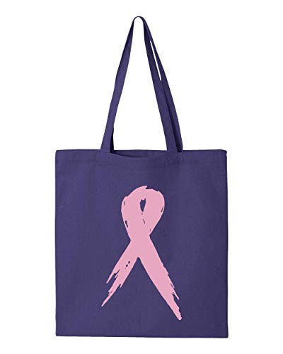 (Pink Ribbon Breast Cancer Awareness Tote Handbags Bags for Work School Grocery Travel)