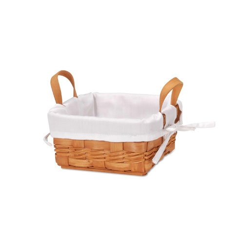 Bulk Buy: Darice DIY Crafts Chipwood Basket with Liner 7.25 inches (12-Pack) 2860-13