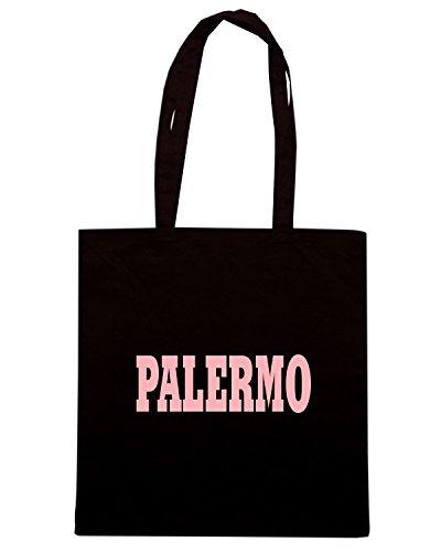 T-Shirtshock - Bolsa para la compra WC0892 PALERMO SICILIA ITALIA CITTA STEMMA LOGO Negro