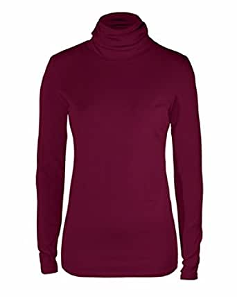 Peruvian Connection Long Sleeve Pima Cotton Extreme Turtle Neck (Small, Tao Red)