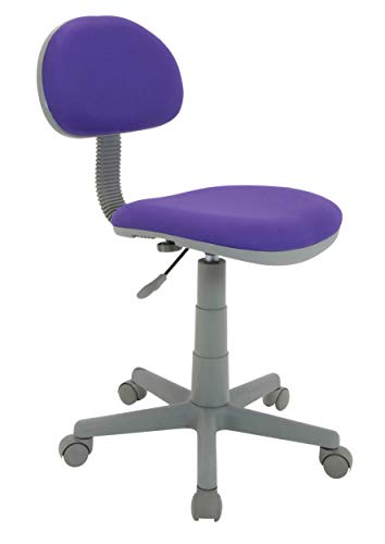 35' Diameter Color - Calico Designs Deluxe Task Chair in Purple with Gray Base 18516