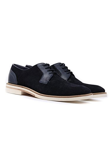 Ted Baker Hommes Dark Bleu Siablo Perforated Suède Chaussures