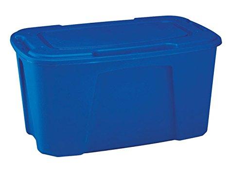 Homz 6550dwbl.04 Stackable Blue Storage Tote, Plastic, 49 Gallon by HOMZ