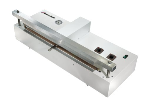 AmeriVacS AVS-20 Retractable Nozzle Vacuum Sealer, 20'' Seal Length, 1/4'' Seal Width, 6 CFM Vacuum Flow, 27 inHg Maximum Vacuum Pressure by AmeriVacS