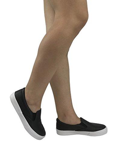 Soda-Frauen Beleg auf Turnschuhen - geschlossene Zehe Schwarz