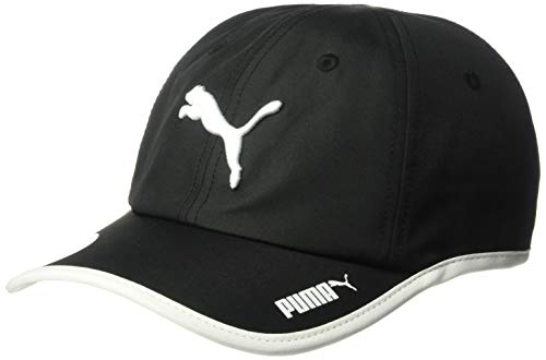 (PUMA Women's Evercat Greta Running Adjustable Cap, Black/White, One Size)