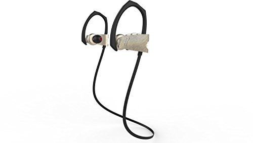 Sport Bluetooth Headphones 4.1 Wireless Earbuds with Mic Stereo Headset Noise Cancelling Neckband IPX5 Sweatproof Earphones (Gray)