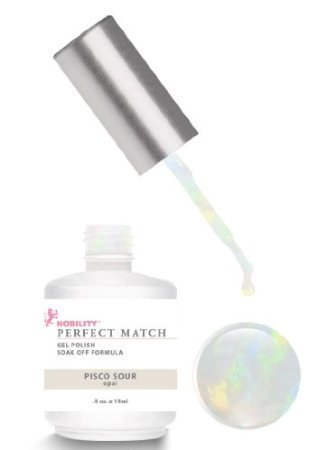 (LeChat Perfect Match DUAL SET Soak Off Gel Polish and Dare to Wear Nail Lacquer - Pico Sour - PMS19)