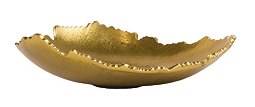 - Red Co. Golden Allure Gilded Torn Decorative Centerpiece Bowl in Antique Finish, 12 Inches