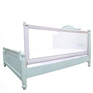 Z-SEAT Foldable Baby Bed Guard, Extra Long Bed Rail, Convertible Crib Bedrail for Toddlers, Kids and Children, Sturdy and Solid