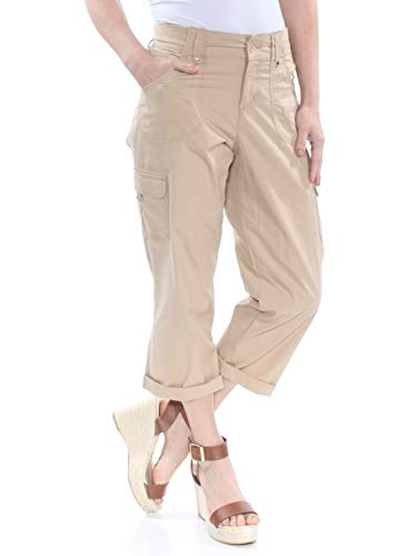 - LEE $32 Womens New 1372 Beige Nikki Poplin Cargo Cuffed Cropped Pants 4 B+B