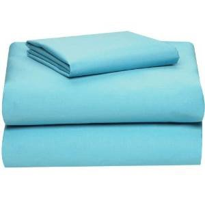COLLEGE DORM MICROFIBER TWIN EXTRA LONG 3 Pc SHEET SET - AQUA
