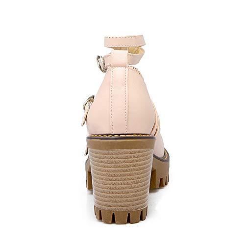 APL10500 Urethane BalaMasa Buckle Pumps Womens Shoes Mule Pink Herringbone w0qfqzxanZ