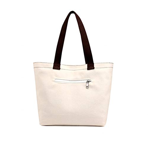 Bag Defeng Pouch Totes Shopper Women Top white Beach Bag Bags b118 for Off Shoulder Handbag Handle Canvas BqgrBPv
